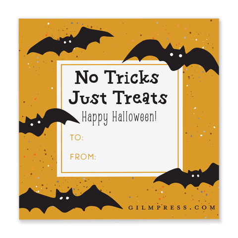 Bat Halloween Gift Tag