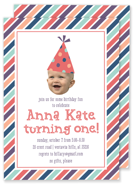Big Birthday Face Invitation