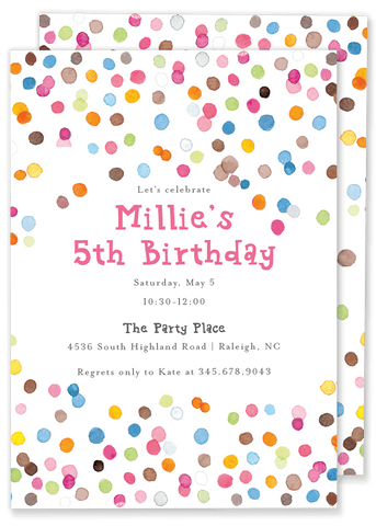 Big Confetti Birthday Invitation