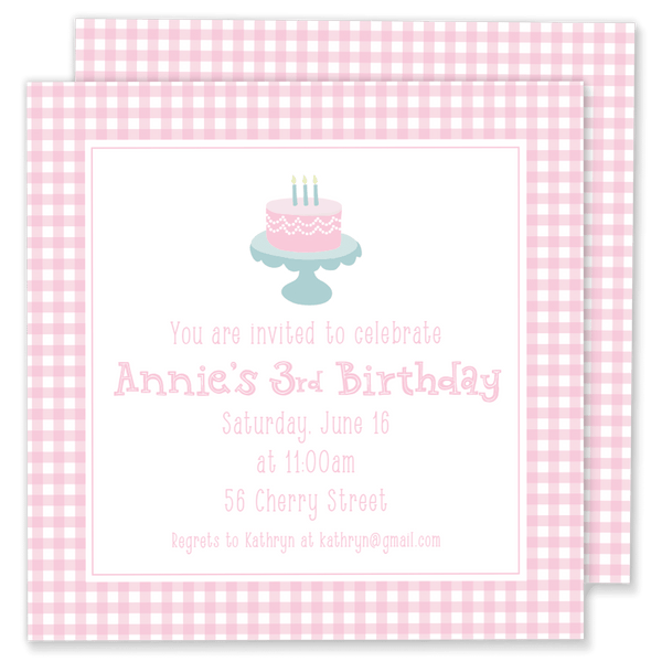 Birthday Cake Party Invitation
