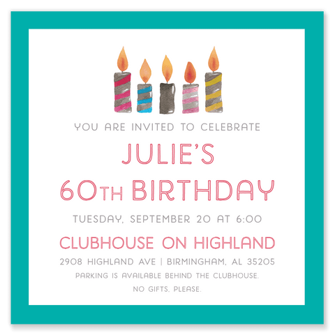Birthday Candle Party Invitation