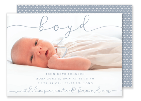 baby boy birth announcement blue