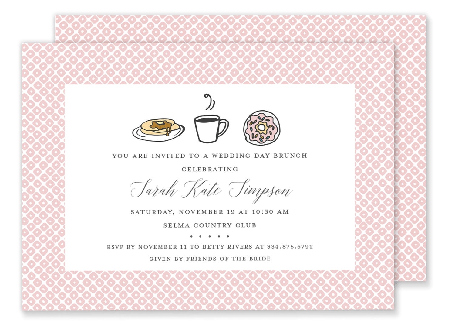 Baby Shower Brunch Invitation Gilm Press