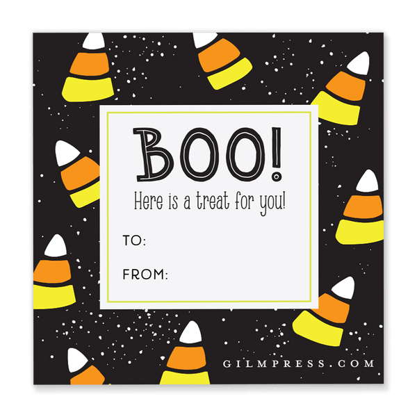 Candy Corn Halloween Gift Tag