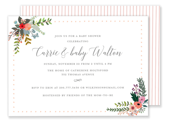 Carrie Country Flower Invitation