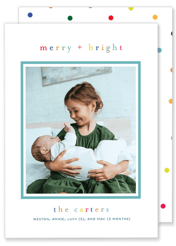 Carter Colorful Christmas Card