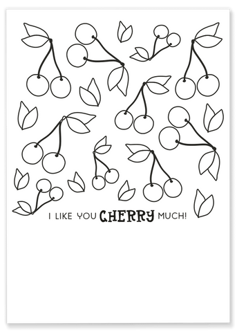 Cherry Coloring Sheet