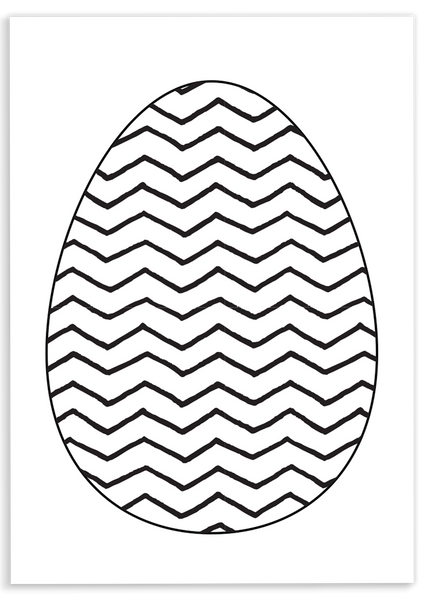Chevron Egg Coloring Sheet