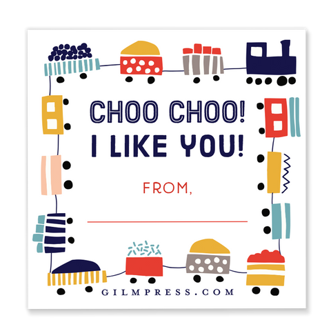 Choo Choo I Like You valentine