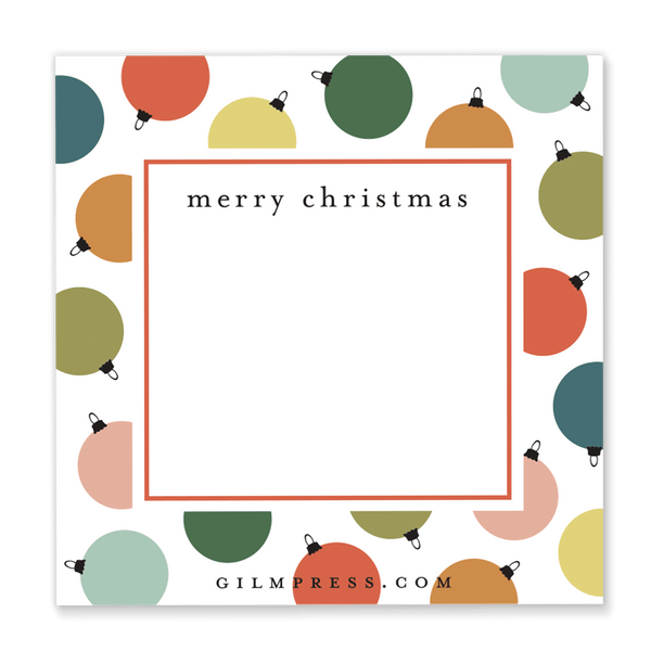 Colorful Ornament Gift Tag