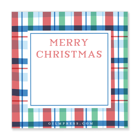 Christmas Plaid Gift Tag