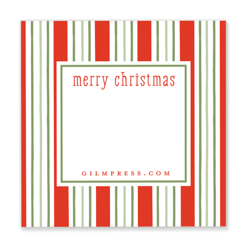 Christmas Stripe Gift Tag
