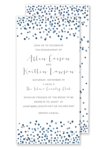 Watercolor Confetti Invitation