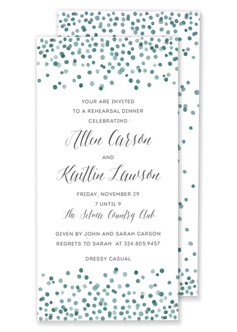 Color Confetti invitation