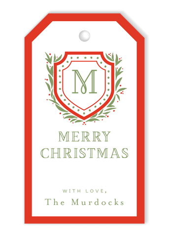 Christmas Crest Gift Tags