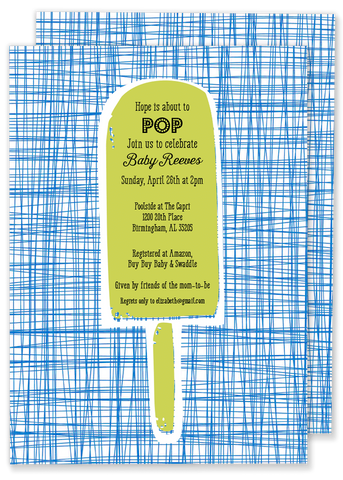 Criss Cross Pop invitation