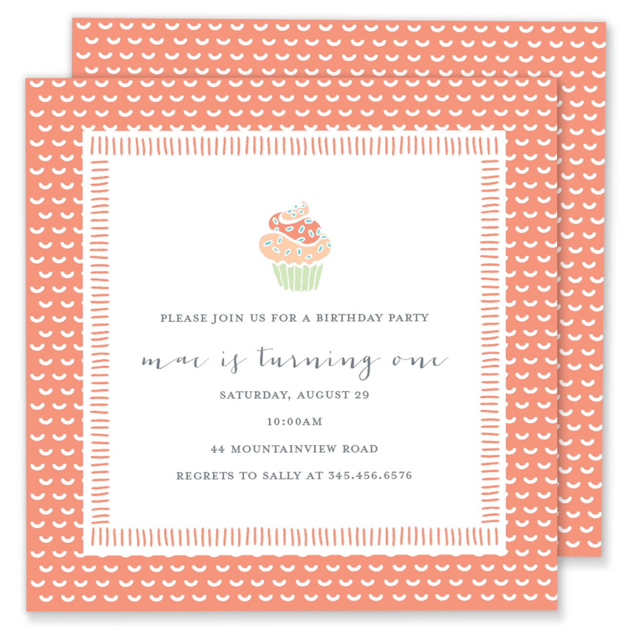 Cupcake Birthday Party Invitation – Gilm Press
