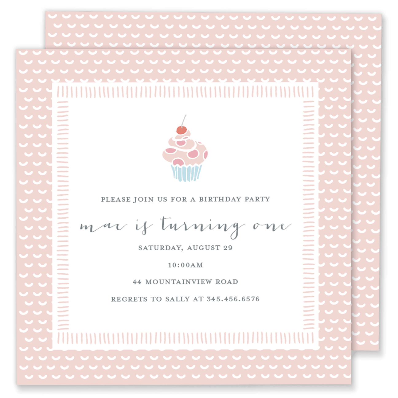 cupcake birthday party invitation gilm press