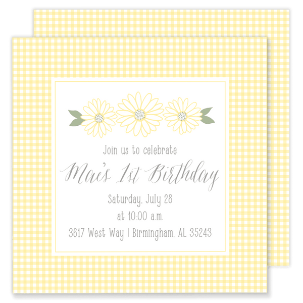 Daisy Mae Birthday Invitation