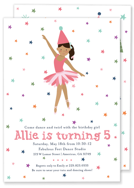 Dance and Twirl Birthday Invitation