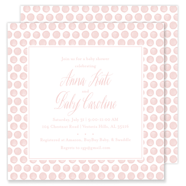 Drew Dot Baby Shower Invitation