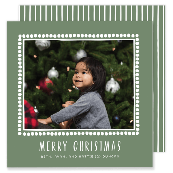 Duncan Dot Square Christmas Card