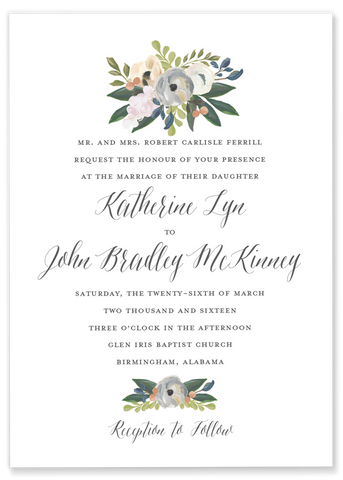 Katie Lyn Floral Invitation