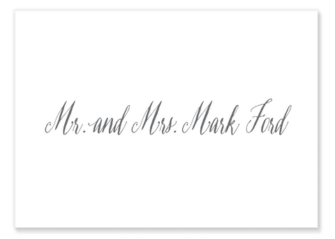 Ford Formal Script Calling Card