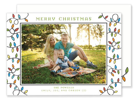 Framed Lights Christmas Card