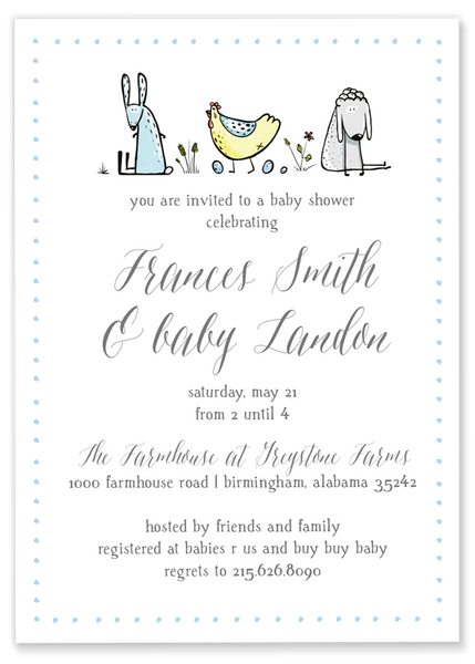 Frances Farmhouse Baby Shower