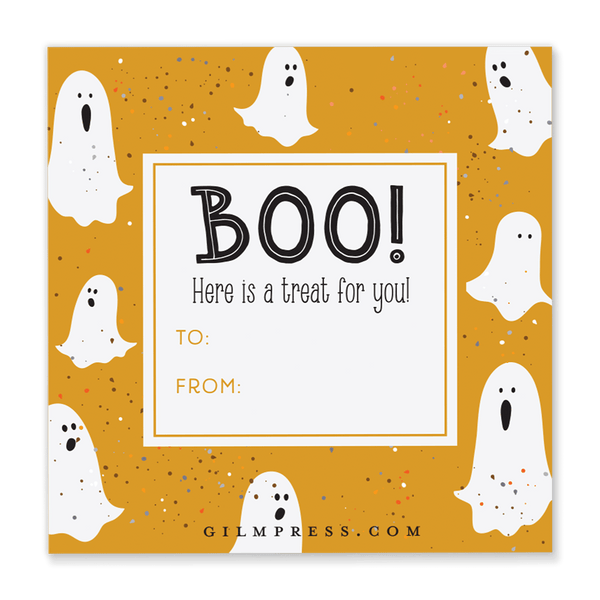 Ghost Halloween Gift Tag