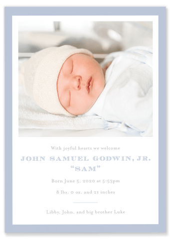 Godwin Birth Announcement