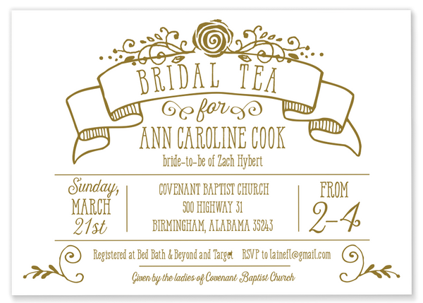Gold Bridal Tea