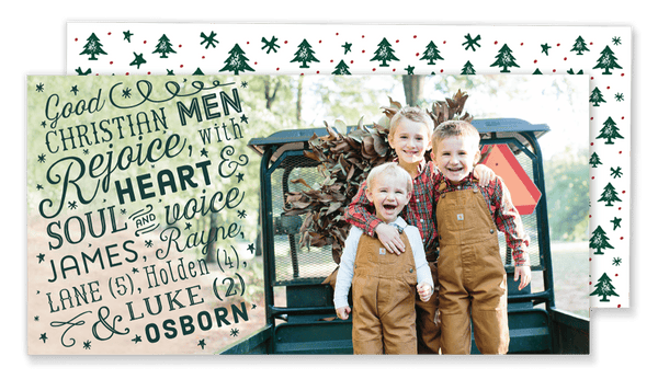 Good Christian Men Rejoice Christmas Card