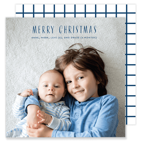 Goodman Grid Square Christmas Card