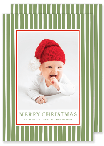 Gordon Green Stripe Christmas Card