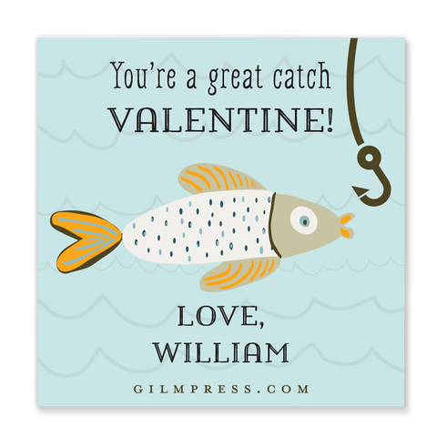 You're a Great Catch valentine