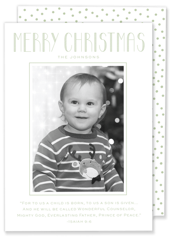 Green Merry Christmas Card