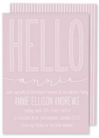 Hello Baby Shower Invitation
