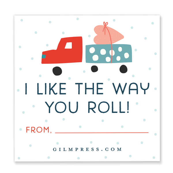 I Like the Way You Roll valentine