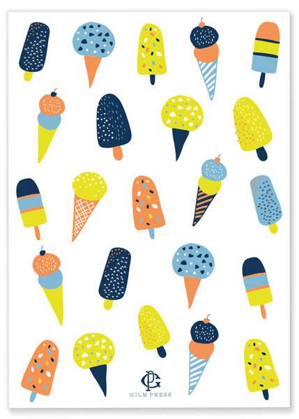 Ice Cream & Popsicle Birthday Party Invitation