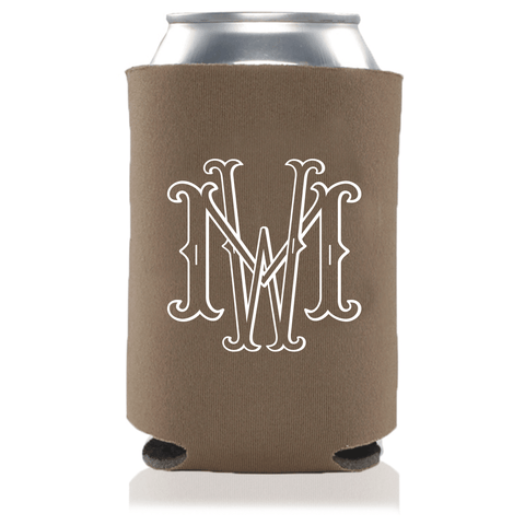 Dual Monogram Can Coolers