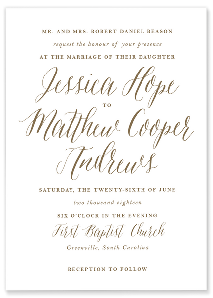 Jessica Hope Wedding Invitation
