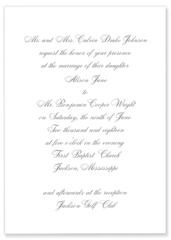 Johnson Script Wedding Invitation