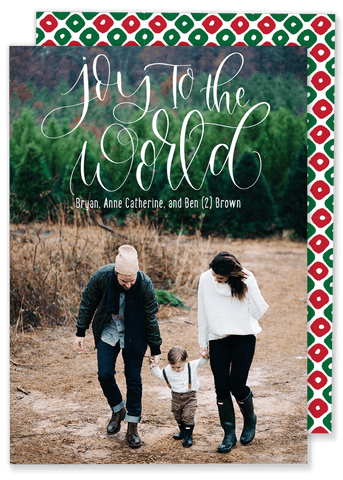 Joy to the World Diamonds Christmas Card