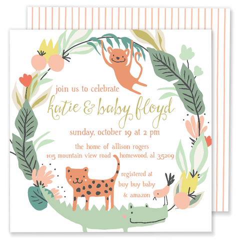 Jungle Baby Shower Invitation