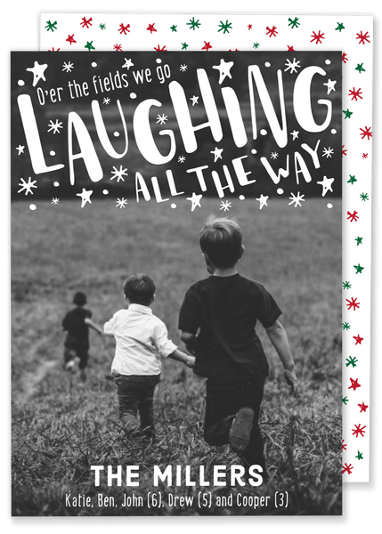 Laughing all the Way Christmas Card