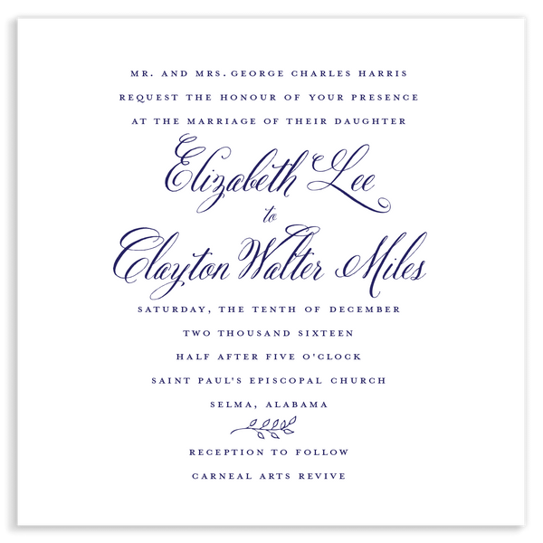 Lee Leaf Wedding Invitation