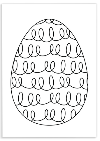 Loopy Egg Coloring Sheet
