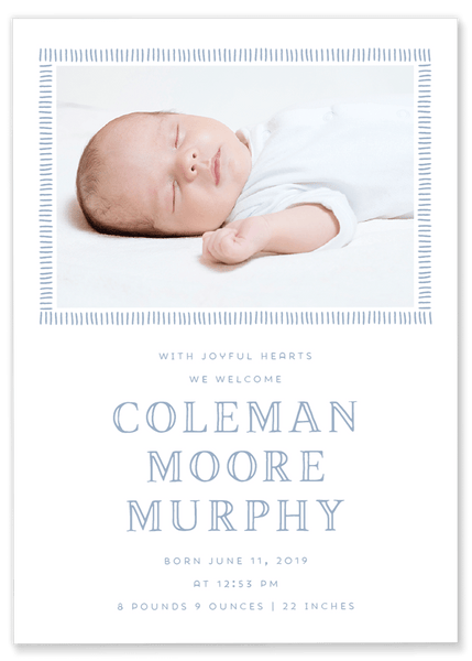 Louise Line Birth Announcement